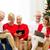uśmiechnięty · rodziny · komputerów · domu · wakacje - zdjęcia stock © dolgachov