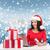 donna · regali · computer · portatile · carta · di · credito · Natale · natale - foto d'archivio © dolgachov
