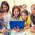 grup · okul · çocuklar · sınıf · eğitim - stok fotoğraf © dolgachov