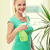 若い女性 · ツリー · 花 · 少女 · 笑顔 · 自然 - ストックフォト © dolgachov