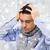 közelkép · férfi · szenvedés · hideg · csukott · szemmel · ház - stock fotó © dolgachov