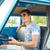 homme · conduite · rétro · voiture · affaires · urbaine - photo stock © dolgachov