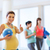 pregnant woman with ball in gym showing thumbs up stock photo © dolgachov