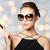 gyönyörű · fiatal · nő · elegáns · fekete · napszemüveg · vásárlás - stock fotó © dolgachov