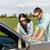 счастливым · человека · женщину · карта · кабриолет · автомобилей - Сток-фото © dolgachov