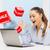Rood · verkoop · teken · laptop · nieuw · huis · geïsoleerd - stockfoto © dolgachov
