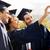 studenten · bachelors · smartphone · onderwijs · afstuderen - stockfoto © dolgachov