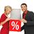 piros · százalék · felirat · fehér · üzlet · 3D - stock fotó © dolgachov
