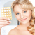 jeune · femme · pilules · photos · maison · femme · médicaux - photo stock © dolgachov