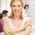mooi · meisje · groene · appel · school · foto · vrouw - stockfoto © dolgachov