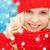 adolescente · rouge · chapeau · écharpe · hiver · Noël - photo stock © dolgachov