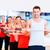 grup · zâmbitor · persoanele · care · lucrează · afara · fitness · sportiv - imagine de stoc © dolgachov