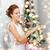 sorrindo · vestido · branco · anel · de · diamante · férias · celebração - foto stock © dolgachov