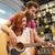 paar · muzikanten · gitaar · muziek · store · verkoop - stockfoto © dolgachov