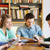 studenten · boeken · examen · bibliotheek · mensen · kennis - stockfoto © dolgachov