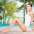 bela · mulher · algodão · roupa · interior · praia · pessoas - foto stock © dolgachov