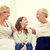 tre · donne · soggiorno · parlando · sorridere · donna - foto d'archivio © dolgachov