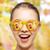 vidám · arc · tinilány · napszemüveg · évszak · érzelmek · emberek - stock fotó © dolgachov