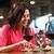 vrienden · dining · drinken · wijn · restaurant · recreatie - stockfoto © dolgachov