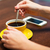 close up of woman with smartphone and coffee stock photo © dolgachov