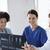 csoport · orvosok · megbeszél · röntgen · kép · radiológia - stock fotó © dolgachov