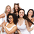 grupy · szczęśliwy · plus · size · kobiet · biały · bielizna - zdjęcia stock © dolgachov