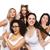 gruppo · felice · plus · size · donne · bianco · intimo - foto d'archivio © dolgachov