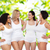groep · gelukkig · verschillend · vrouwen · witte · ondergoed - stockfoto © dolgachov