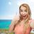 eğlence · kadın · fotoğraf · plaj · tatil - stok fotoğraf © dolgachov