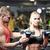 mujer · entrenador · personal · gimnasio · pesas · cuerpo · fitness - foto stock © dolgachov