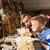 padre · pequeño · hijo · madera · taller - foto stock © dolgachov