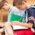 escuela · primaria · retrato · alegre · colegial · mochila · mirando - foto stock © dolgachov