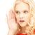 femme · écouter · potins · lumineuses · photos · jeune · femme - photo stock © dolgachov