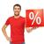 man with percent sign stock photo © dolgachov