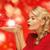 kadın · avuç · içi · eller · kırmızı · elbise · sevmek - stok fotoğraf © dolgachov