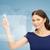 businesswoman touching virtual screen stock photo © dolgachov