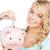 mujer · alcancía · Foto · negocios · financiar · cerdo - foto stock © dolgachov
