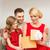 mutlu · aile · açılış · hediye · kutusu · aile · Noel · noel - stok fotoğraf © dolgachov
