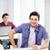 college · jongen · laptop · lopen · glimlachend - stockfoto © dolgachov