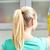 werknemer · achteraanzicht · permanente · garage · pak - stockfoto © dolgachov