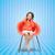 女の子 · リスニング · ヘッドホン · 音楽を聴く · 青 · 幸せ - ストックフォト © dolgachov