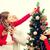 baba · oturma · odası · Noel · asılı · çelenk - stok fotoğraf © dolgachov