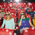 friends watching horror movie in 3d theater stock photo © dolgachov