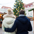close up of couple in old town at christmas stock photo © dolgachov