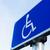 parkeren · teken · gehandicapten · mensen · Blauw · gehandicapten - stockfoto © dolgachov