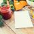 新鮮な野菜 · 木製 · ノートブック · レシピ · メニュー · 紙 - ストックフォト © dolgachov