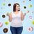小さな · プラスサイズ · 女性 · リンゴ · クッキー - ストックフォト © dolgachov
