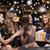feliz · mujeres · champán · regalo · club · nocturno · celebración - foto stock © dolgachov