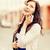 kız · bağbozumu · telefon · güzel · moda · genç · kadın - stok fotoğraf © dolgachov