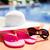 Hat · protezione · solare · pantofole · spiaggia - foto d'archivio © dolgachov